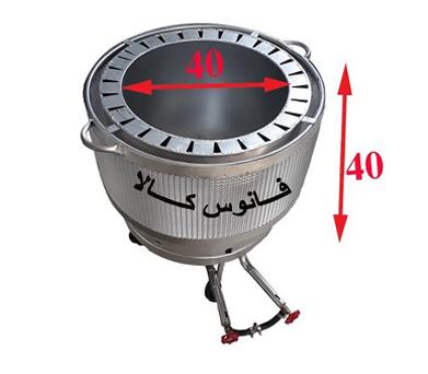 تنور گازی خانگی سایز ۴۰ در ۴۰