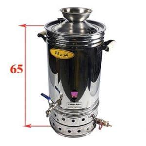 سماور گازی استیل ۳۳ لیتری (شمعک دار)